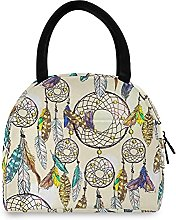 Lunch Bag, Vintage Boho Dream Insulated Lunch Box