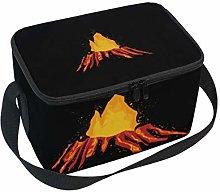 Lunch Bag Volcano Cooler for Picnic Shoulder Strap