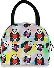 Lunch Bag, Watercolor Panda Insulated Lunch Box