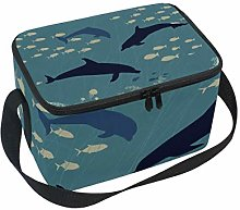 Lunch Bag Whale Dolphin Fish Seaworld Cooler for