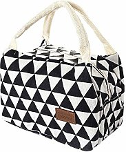 Lunch Bag Women Kids Men Insulated Canvas Box Tote