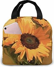 Lunch Bag Yellow Flower Insulated Lunch Tote