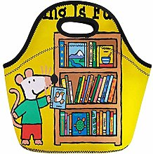 Lunch Bags Colorful Candlewick Maisy and Bookshelf