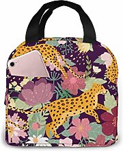 Lunch Bags for Men Women Leopards Insulated
