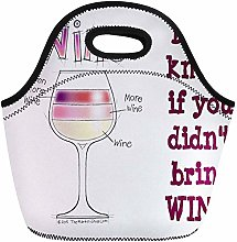 Lunch Bags Glass Wine More Even Vintner Winery