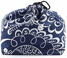 Lunch/Bento Box Bag Japanese Style Cotton and