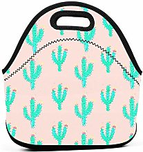 Lunch Box,Bright Cactus Cooler Tote Box Washable