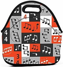 Lunch Box,Graphic Music Notes Design Lunch Tote