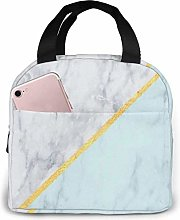 Lunch Box Marble Gold Celeste 3D Insulated Lunch