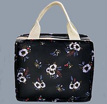 Lunch Box Pattern Cooler Portable Insulated Canvas