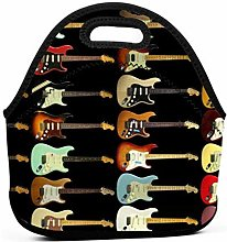 Lunch Cooler Bag,Electric Guitar Cooler Tote Box