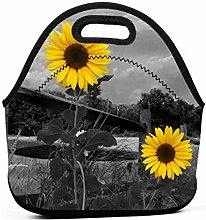 Lunch Organizer,Black White Rose Lunch Bags