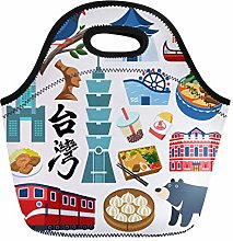 Lunch Tote Bag Taiwan Culture Travel Famous