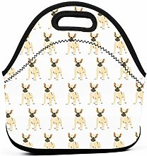 Lunch Tote Box Cool Bag,French Bulldog Lovely