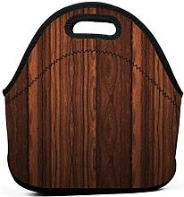 Lunch Tote Box Cool Bag,Wood Texture Cool Lunch