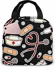 Lunch Tote Medical Thermometer Nurse Hat School