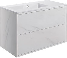 Lund Wall Hung 2-Drawer Vanity Unit with Basin