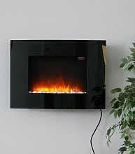Lundy - Cheap Black Electric Fireplace for the Wall