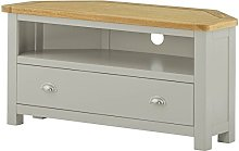 Lundy Stone Grey Painted TV Cabinet - Corner