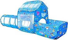 LUNE 3-in-1 play tent, crawl tunnel/without balls,