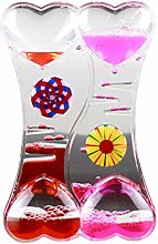 Luo-401XX Drip Oil Hourglass, Double Heart Liquid