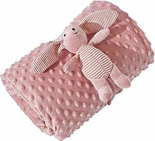 LUO Blankets Baby Plush Blanket, Breathable and