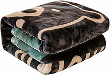 LUO Blankets Plush Blanket, Double-layer Thick,
