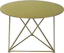 LUO Desks Round Coffee Table, Metal Waterproof