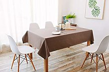 Luofanfei Brown Tablecloth Table Cloth Cover