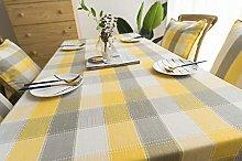 Luofanfei Geometric Tablecloth Yellow and Grey