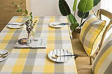 Luofanfei Striped Tablecloth Yellow and Grey