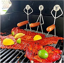 LuohuiFang Funny Humanoid Barbecue Skewers Forks