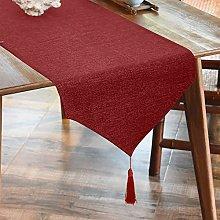 LUOLUO Linen look fringe table runner - elegant