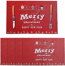 LUOLUO Placemats PVC Non-Slip Placemats Set of 4