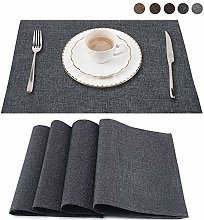 LUOLUO Set of 4 Placemats Washable Kitchen Table