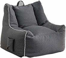 LuoMei Gray Bean Bag Lazy Sofa Single Fabric Sofa