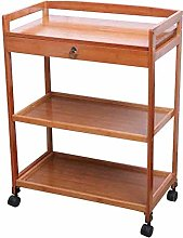 LuoMei Kitchen Storage Trolley Serving Cart Bamboo