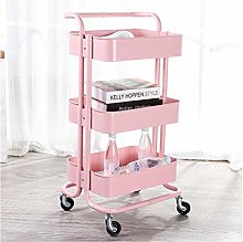 LuoMei Kitchen Trolley Serving Cart Storage Racks
