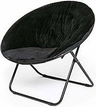LuoMei Moon Chair Lazy Sofa Wide Seat Foldable