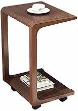 LuoMei Movable Desk Cart Trolley Desk Laptop Desk
