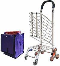 LuoMei Shopping Cart Folding Shopping Cart Small