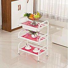 LuoMei Storage Racks Trolley Beauty Salon Carts