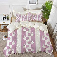 Luoquan 3 Piece Bedding Set,Easter,Cute Bunny