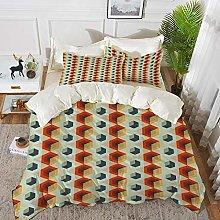 Luoquan 3 Piece Bedding Set,Geometric,Hexagonal