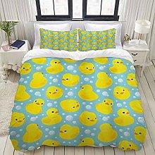 Luoquan 3 Piece Duvet Cover Set Ultra Soft Bedding