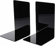 luosh 2 Piece Metal Bookends Heavy Duty Book Ends