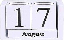luosh Vintage Wooden Perpetual Calendar Desk Top