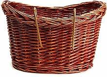 LUOSI Vintage Wicker Bike Basket Brown Adjustable