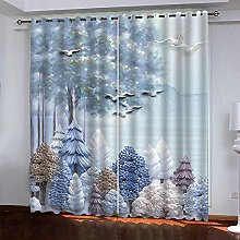 LUOWAN Curtains For Bedroom 27.3X62Inch Drop Big