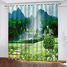 LUOWAN Curtains For Bedroom 39X62Inch Drop Big